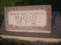 Wanda Rose <I>Howerton</I> Bradsher