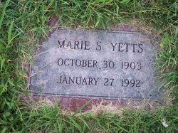 Marie S Yetts
