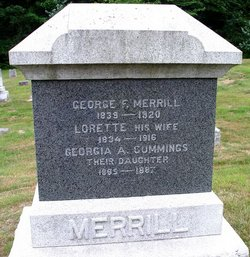 Georgia A <I>Merrill</I> Cummings