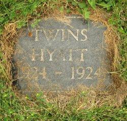 Infant twin boy Hyatt
