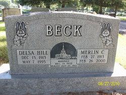 Delsa Marion <I>Hill</I> Beck