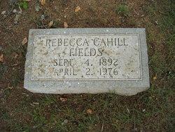 Rebecca <I>Cahill</I> Fields