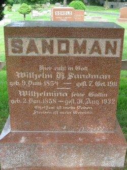 "Wilhelmina ""Mina"" <I>Hartmann</I> Sandman"