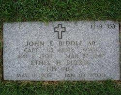 Dr John Eves Biddle, Sr
