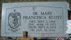 Sr Mary Francisca Klotz