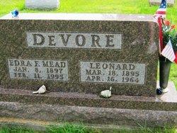Edra F <I>Mead</I> DeVore