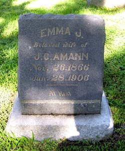Emma Jane <I>Decker</I> Amann