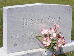 Annie Ruth <I>Greer</I> Peurifoy