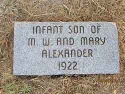 Infant son Alexander