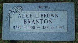 Alice L <I>Brown</I> Branton
