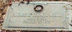 Elizabeth <I>Council</I> Asbury