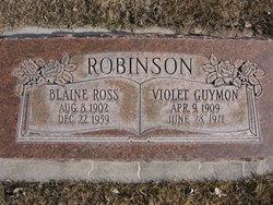 Violet L. <I>Guymon</I> Robinson