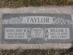 Mary Ann <I>Wright</I> Taylor