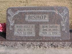 Mary Alice <I>Tullis</I> Bishop