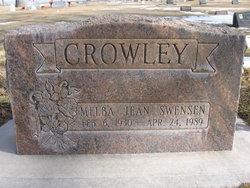 Melba Jean <I>Swensen</I> Crowley