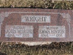 Emma <I>Hinton</I> Wright