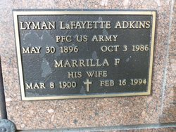 Marrilla F Adkins