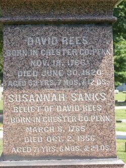 Susannah Sanks <I>Daniel</I> Rees