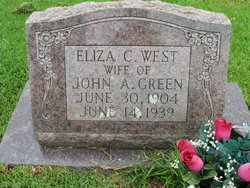 """Eliza McCullers """"Cullers"""" <I>West</I> Green"""
