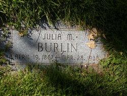 Julia M Burlin