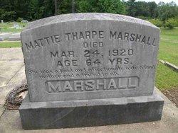 "Martha A. ""Mattie"" <I>Tharpe</I> Marshall"