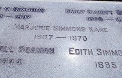 Marjorie Elliott <I>Simmons</I> Kane