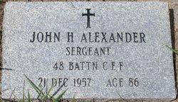 Sgt John H. Alexander