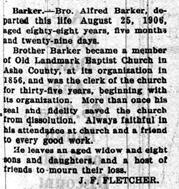 Rev Alfred James Barker
