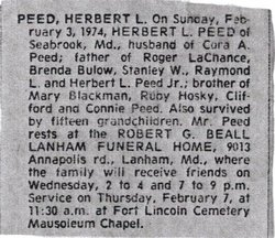 Herbert Landon Peed, Sr