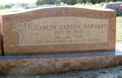 Elizabeth Sandopher <I>Harden</I> Barnard
