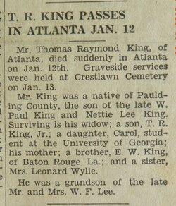 Thomas Raymond King