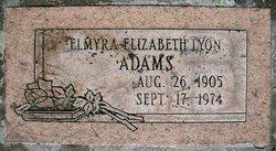 Elmyra Elizabeth <I>Lyon</I> Adams