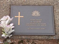 Private Edward Albert