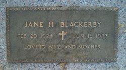 Jane H <I>Shores</I> Blackerby