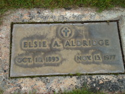 Elsie A <I>Thomas</I> Aldridge