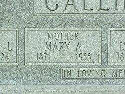 Mary Ann <I>Cox</I> Gallilee