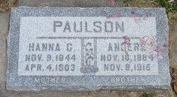 Hanna <I>Goranson</I> Paulson