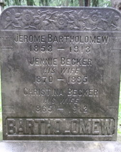 Jennie <I>Becker</I> Bartholomew