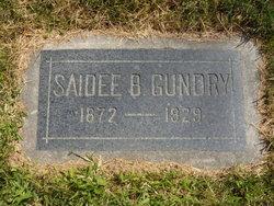 "Saidee ""Sadie"" <I>Brown</I> Gundry"