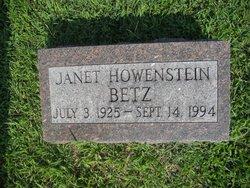 Janet Elizabeth <I>Howenstein</I> Betz