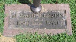 Mattie Marie <I>Cushman</I> Dobbins