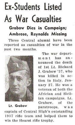 1Lt Richard J Grabow