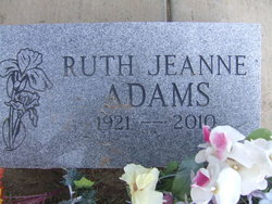 Ruth Jeanne Adams