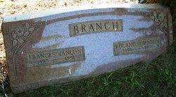 Frances <I>Hanlon</I> Branch