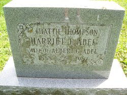Harriet I <I>Thompson</I> Abel
