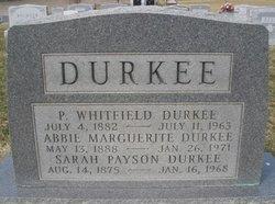 Sarah <I>Payson</I> Durkee