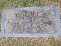 Lucy Anna <I>Cook</I> Barfield