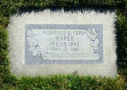 Florence Evelyn <I>Ford</I> Yaple