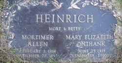 """Mortimer Allen """"Mort"""" Heinrich"""