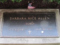 "Barbara ""Bobo"" <I>Rice</I> Allen"